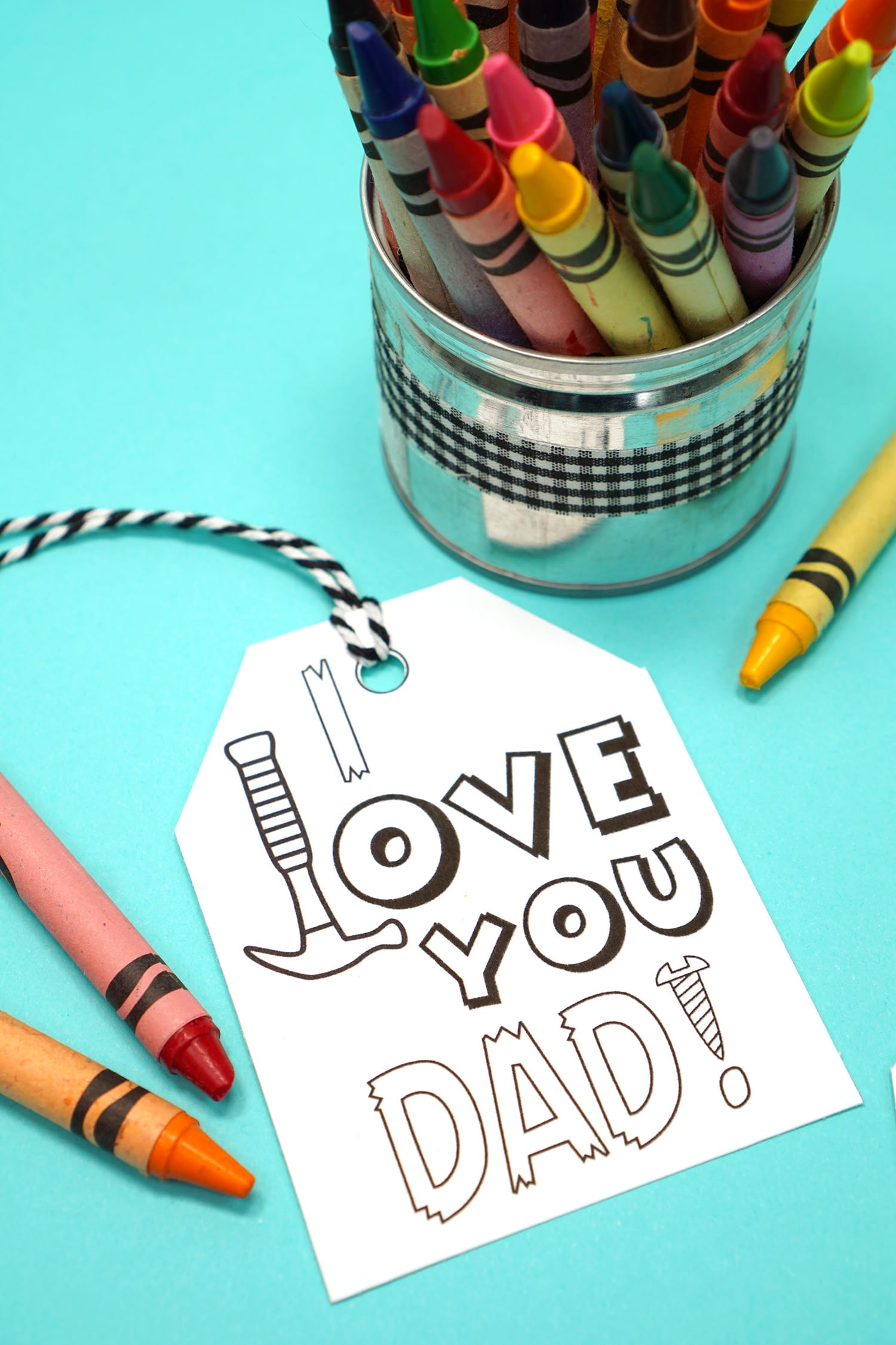 """""""I Love You, Dad"""" printable Father's Day tag"""