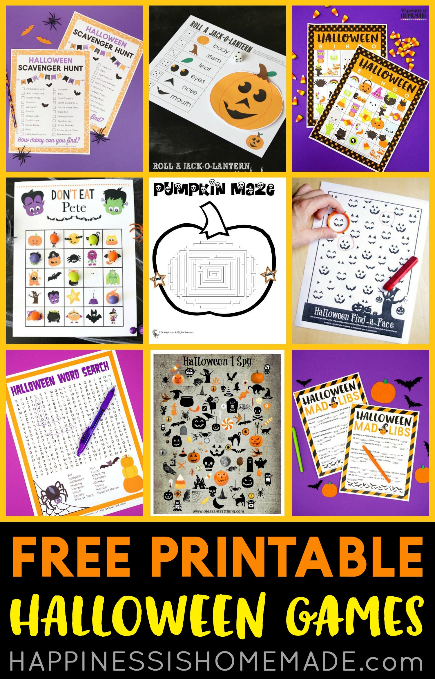 Free Printable Halloween Games Happiness Is Homemade