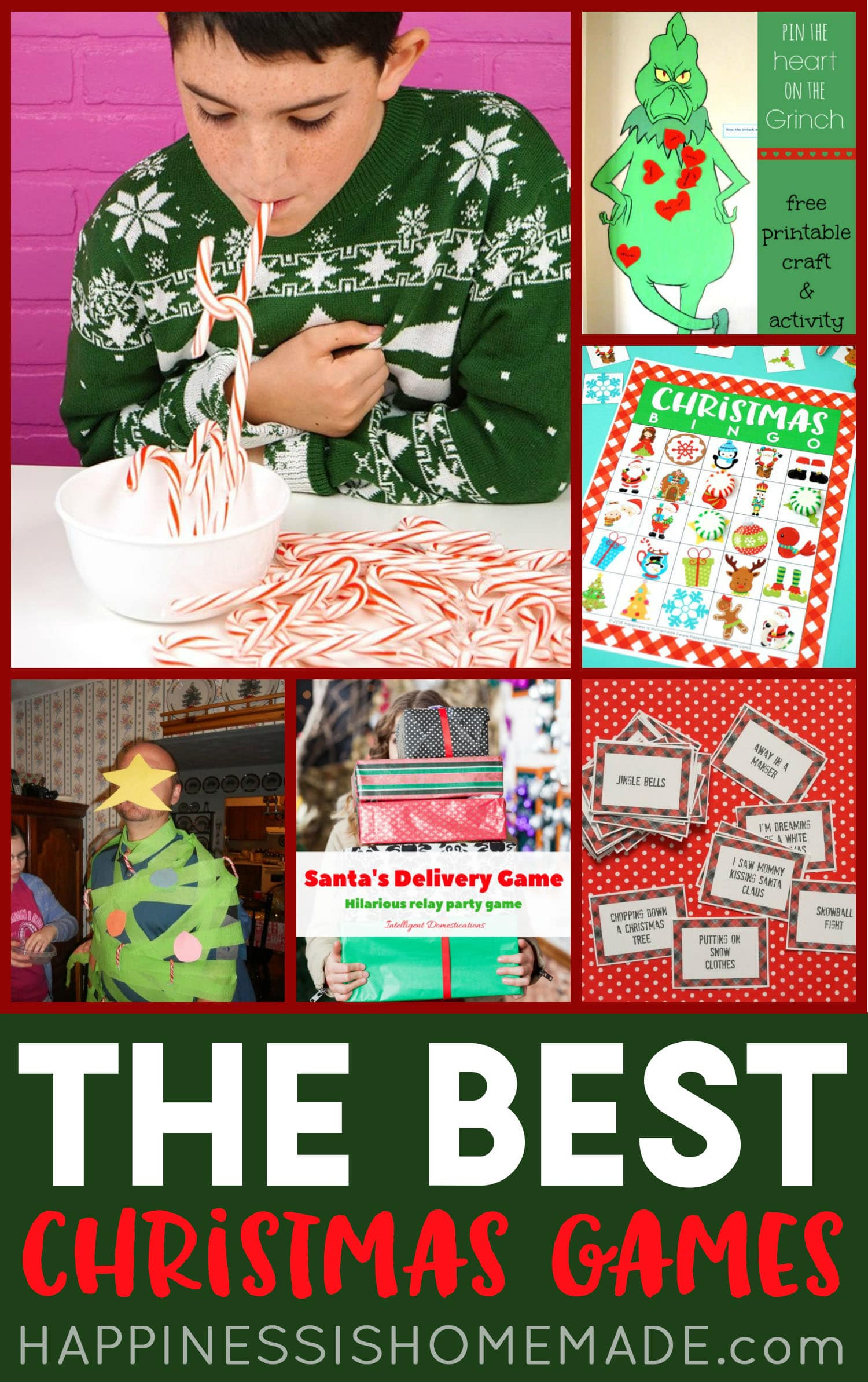 The Best Christmas Games for Kids collage