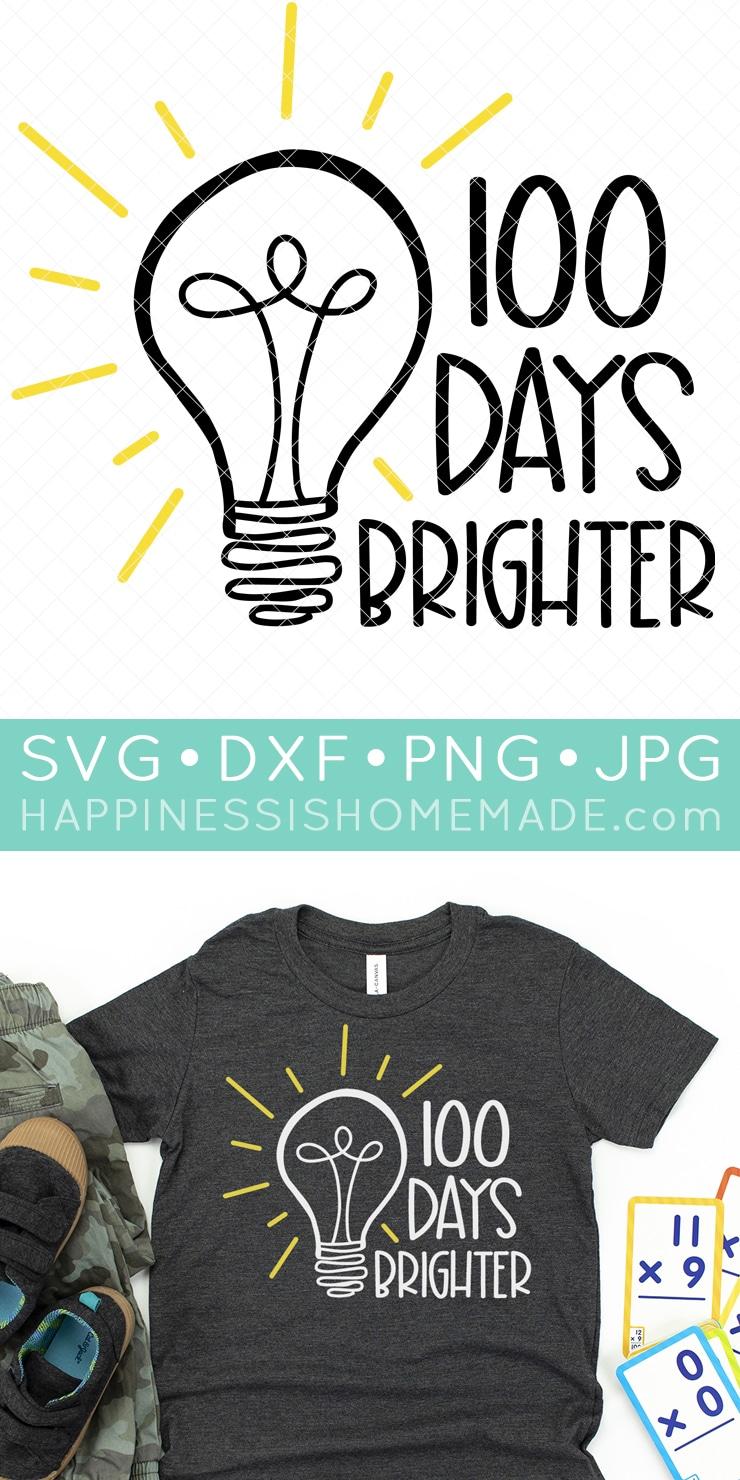 Happy 100th Day Of Kindergarten Svg Kinder Garten Svg Funny Teacher Svg Eps Png Dxf Teacher Or Student Gift Svg 100th Day Of School Svg