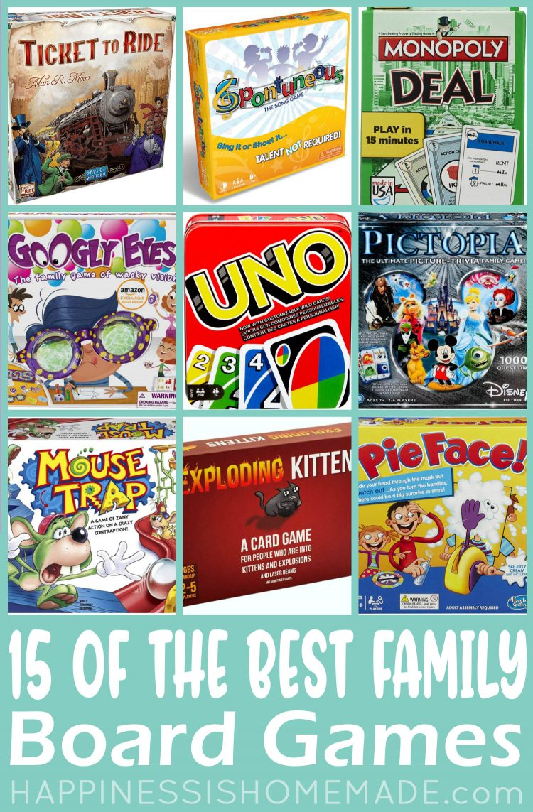 15 Of The Best Family Board Games Happiness Is Homemade