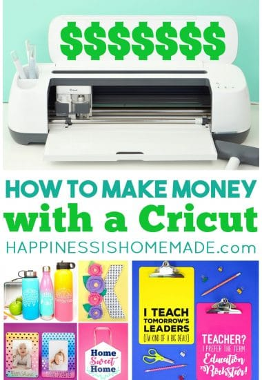Collage of How to Make Money with a Cricut