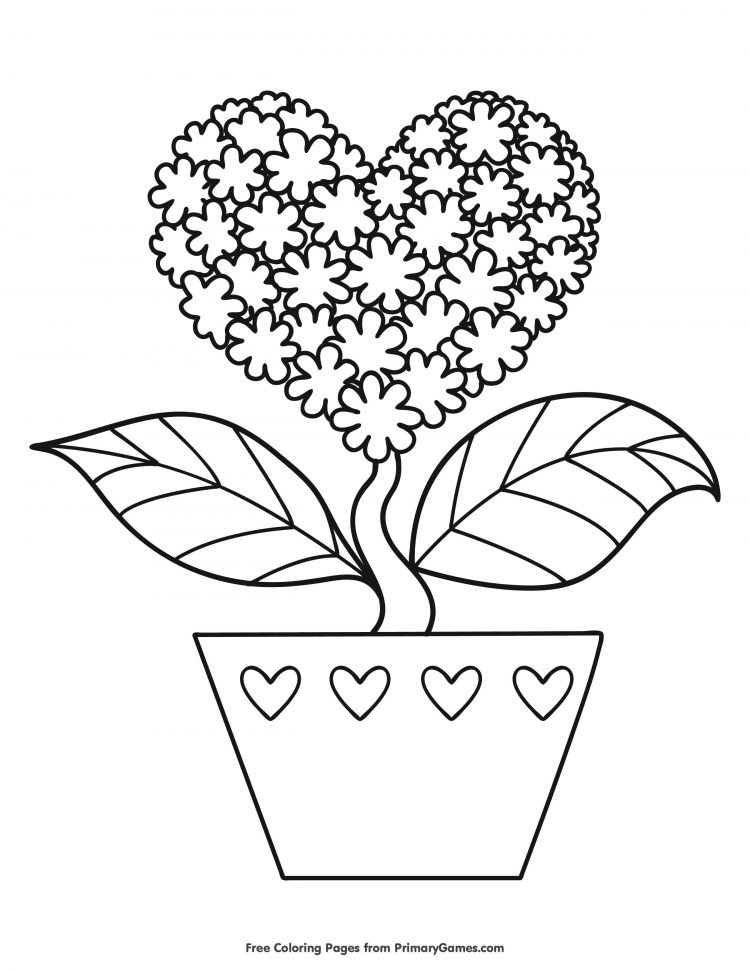20+ Valentines Coloring Pages - Happiness Is Homemade
