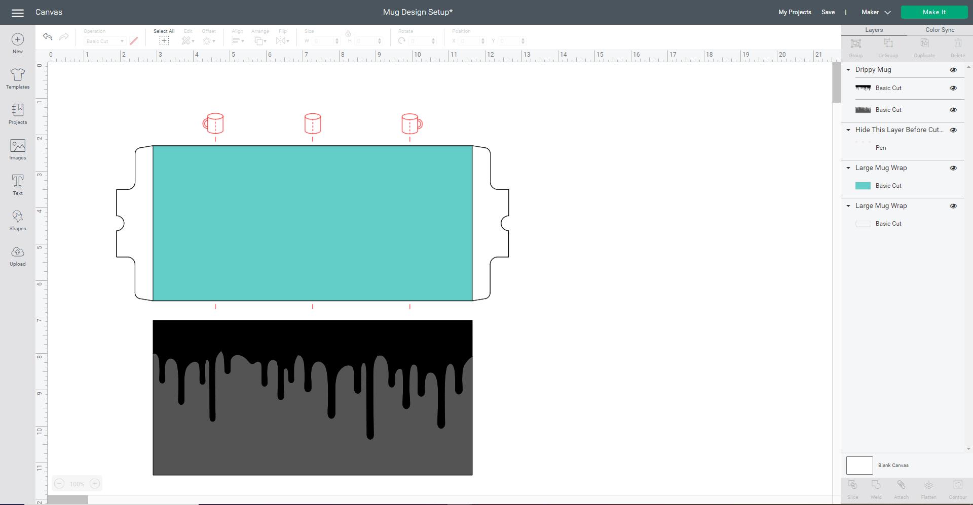 Cricut Design Space screenshot - uploading the file
