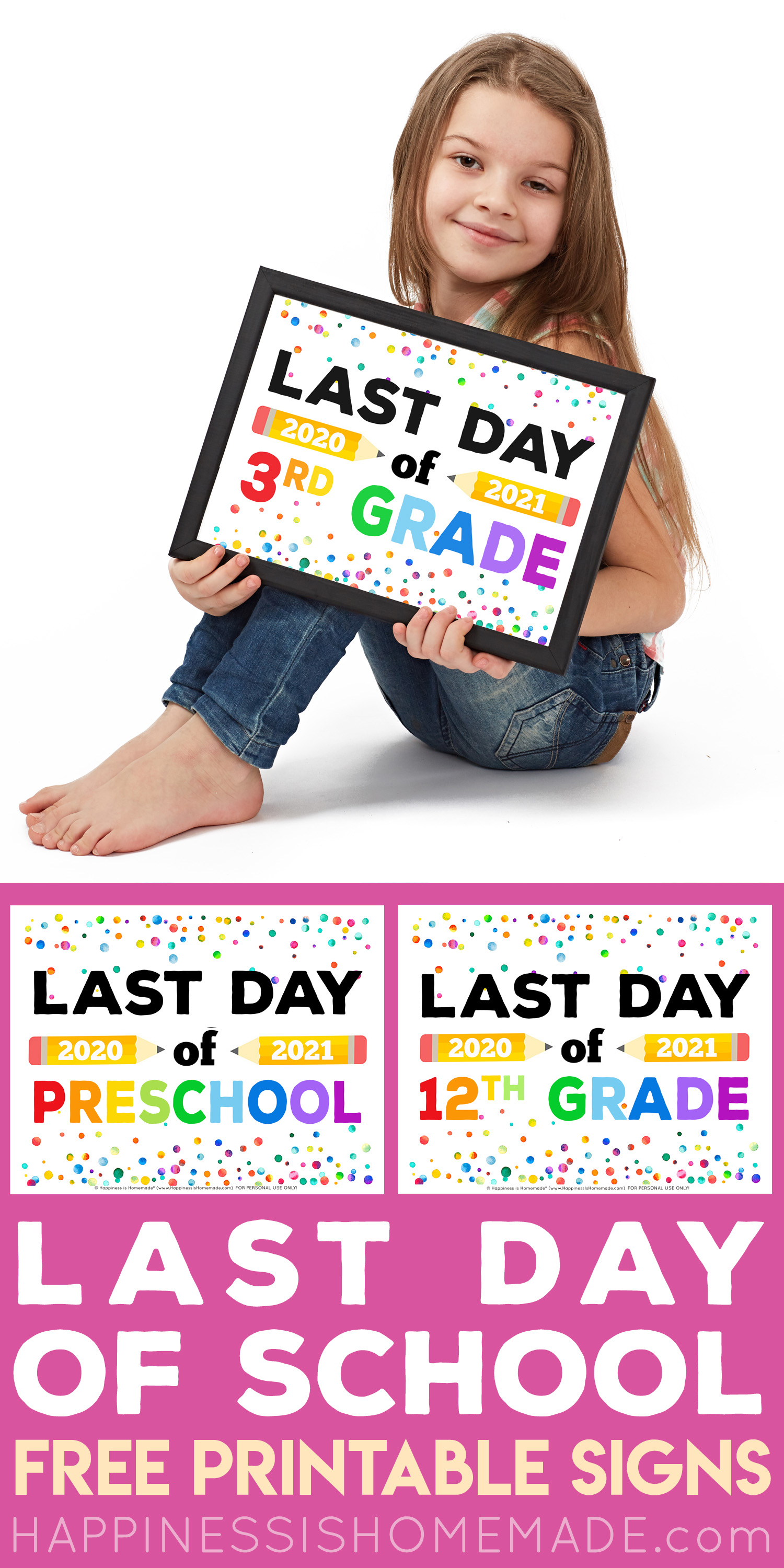 Printable Last Day of School Signs graphic