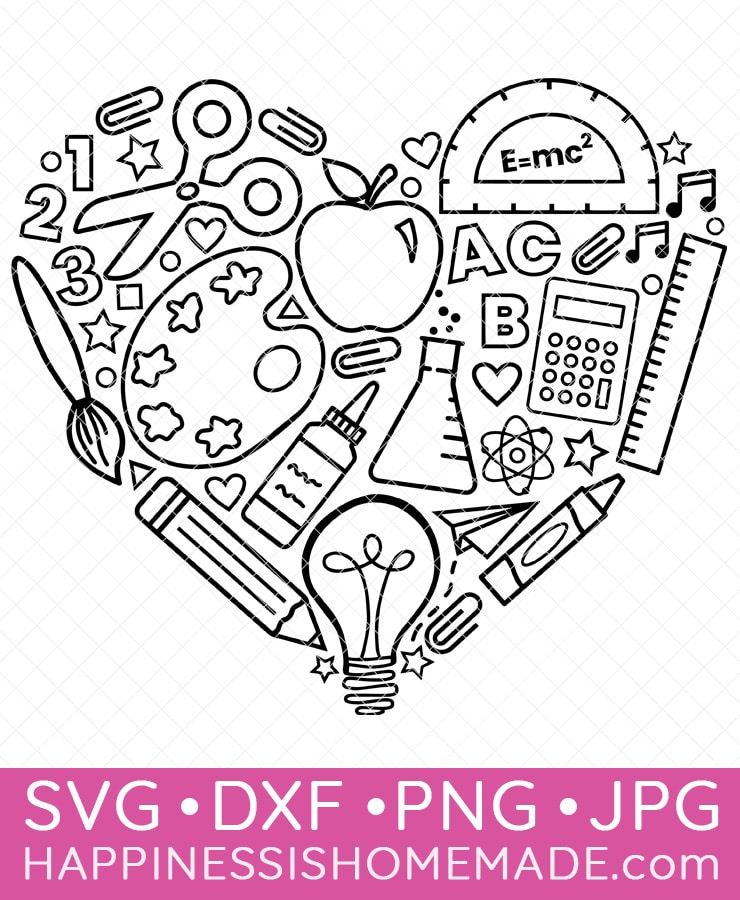 Graphic of back-to-school SVG design image