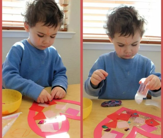 Toddler Time Simple Valentines Day Heart Suncatcher Happiness Is Homemade