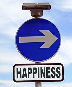 Happiness sign arrow