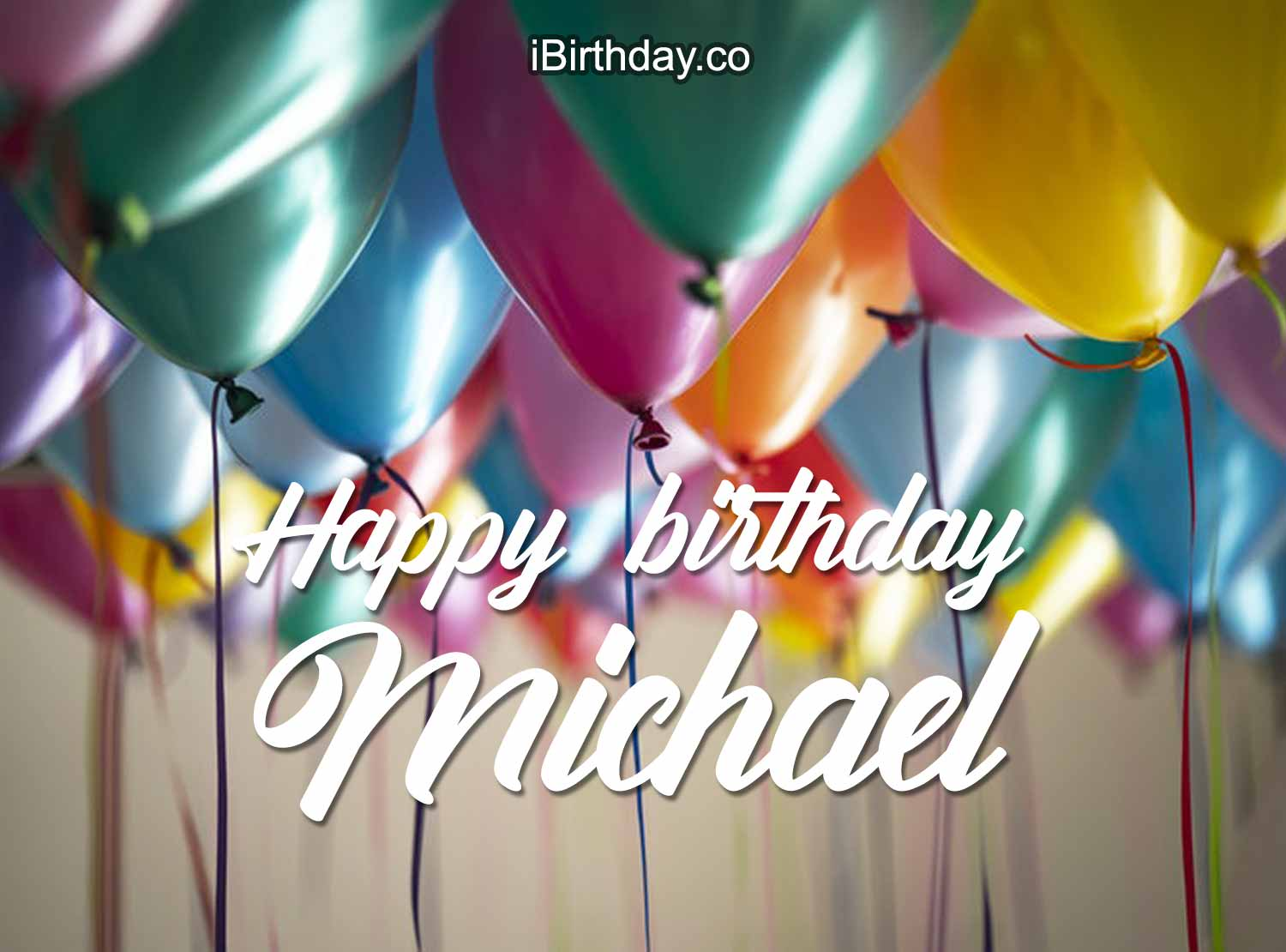 Happy Birthday Michael Ballons 2 Happy Birthday