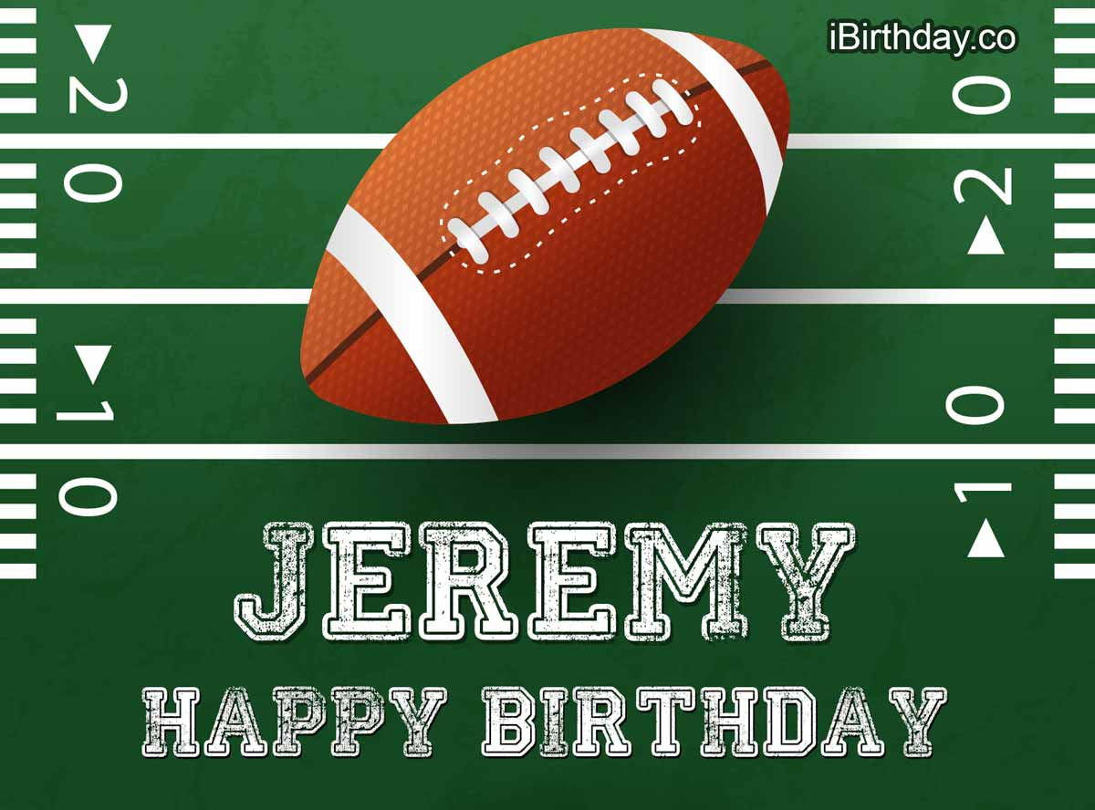 Jeremy Rugby Happy Birthday Happy Birthday