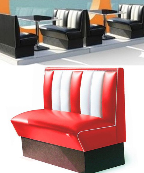 Deco Annee 50 Americaine Banquette Diner With Deco Annee
