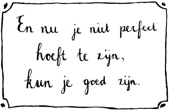 happy acorn perfect goed quote tekening stap terug