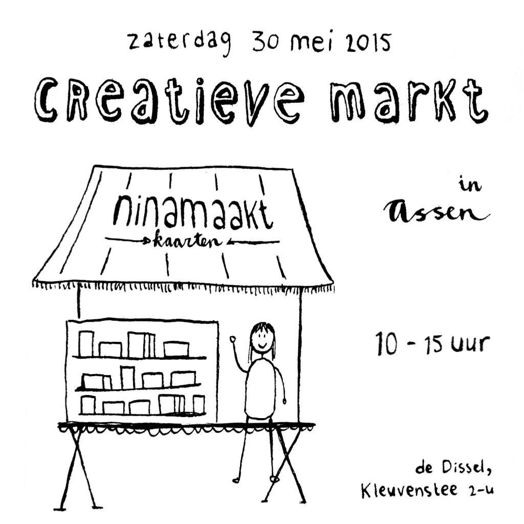 ninamaakt kaarten markt assen craft fair etsy webshop postcards