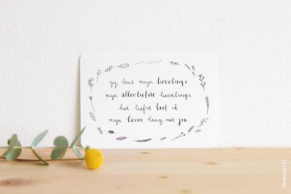 happy acorn ninamaakt kaart lievelings gedichtje