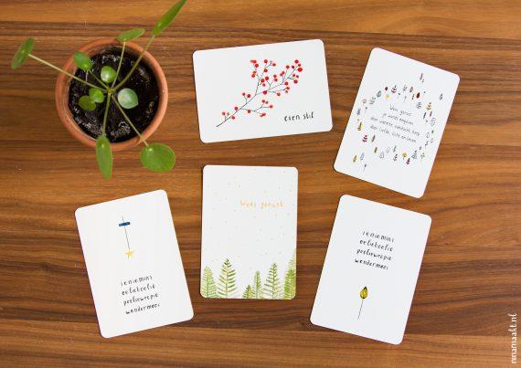 happy acorn ninamaakt nieuwe kaarten