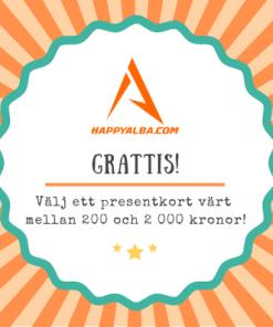 Presentkort HappyAlba