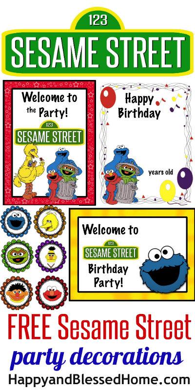 free sesame street birthday party