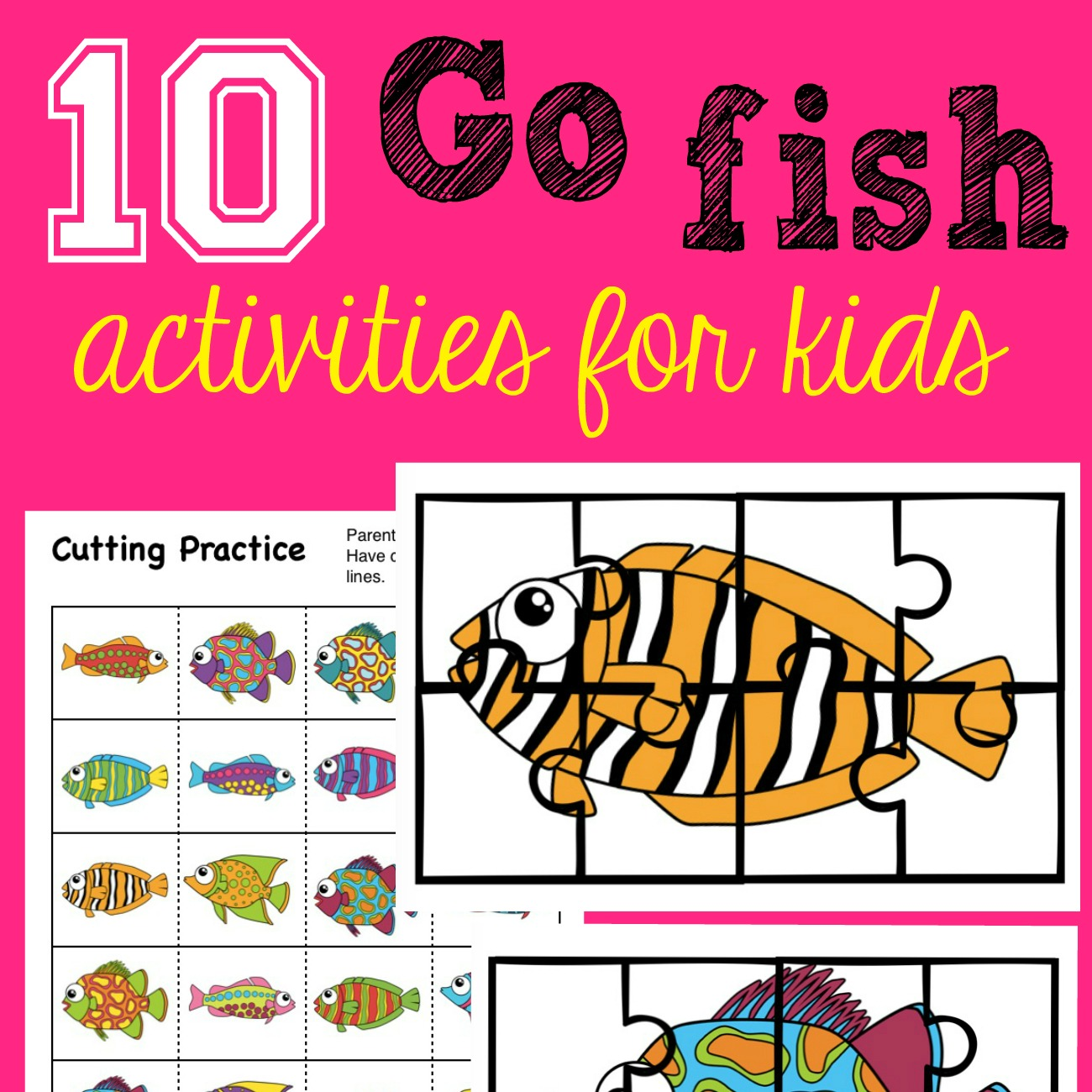 Free Go Fish Activity Pack For Kids With 10 Fun Activities