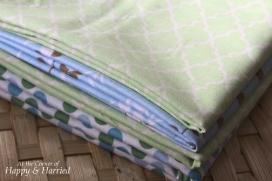 Blue & Green Fabrics 1