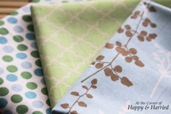 Blue & Green Fabrics 2