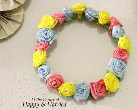 Crepe Paper Rose Wreath 5