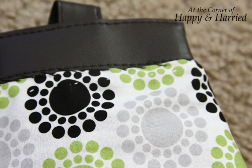 Handbag Makeover With Fabric 4