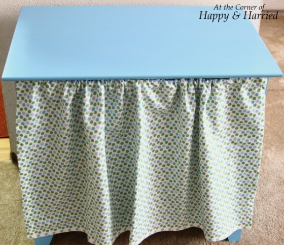 Blue Table with Curtain