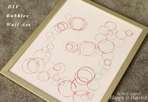 DIY Bubbles Wall Art 1