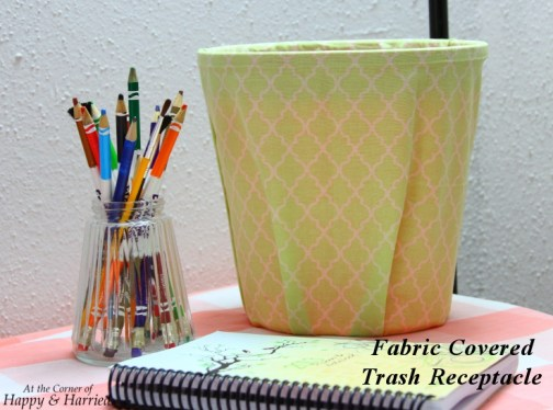 Fabric Covered Trash Receptacle