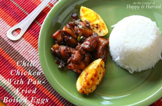Cumin Spiced Chili Chicken With Pan-Fried Boiled Eggs