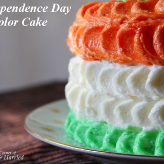 Tricolor Petal Cake
