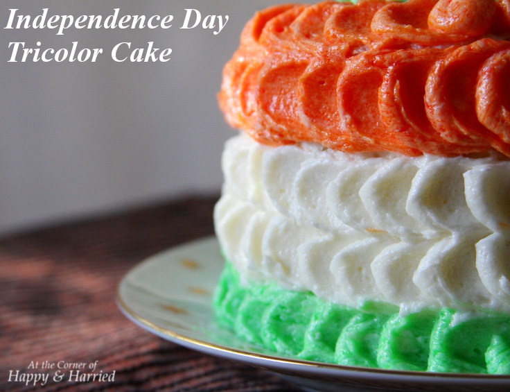 Independence Day Tricolor Cake