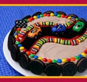 Marvelous Race Car Themed Birthday Cake Cake Stand Personalised Birthday Cards Veneteletsinfo