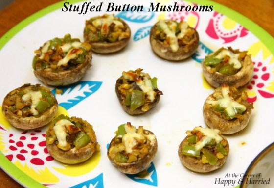 Stuffed Button Mushrooms