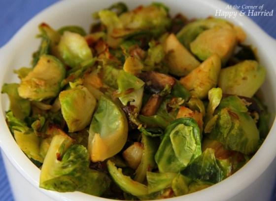 Brussels Sprouts Mushroom Stir Fry