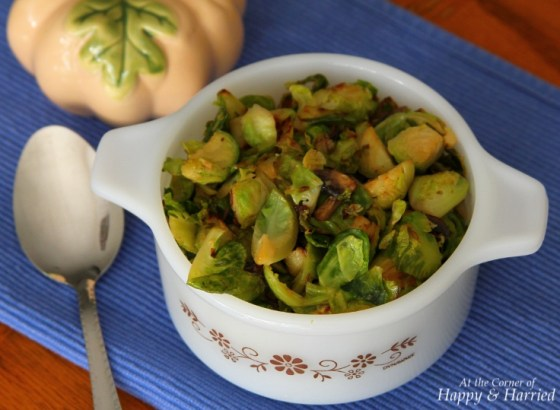 Quick Brussels Sprouts Mushroom Stir Fry With Black Pepper