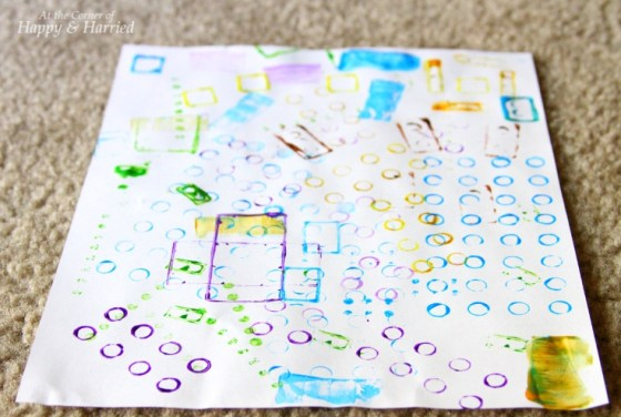 DIY Artwork With Lego Stamps
