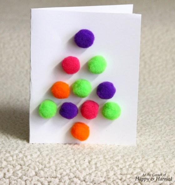 Pom-Poms Tree Christmas Card