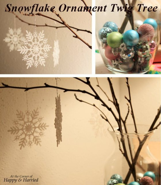 Snowflake Ornament Twig Tree