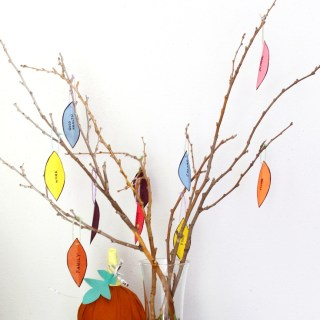 'Count Your Blessings' Thanksgiving Tree