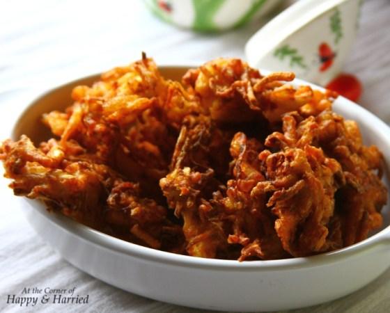 Cabbag, Onion & Chickpea Flour Fritters or Pakoda