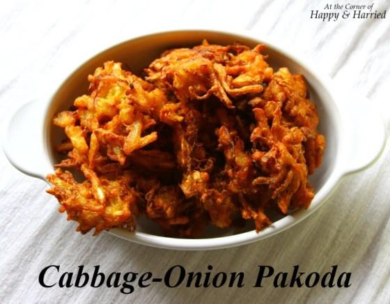 Cabbage-Onion Pakoda