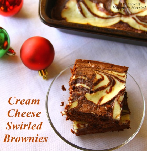 Delicious Cream Cheese Swirled Fudgy Brownies