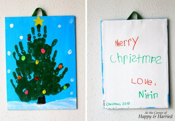 Preschooler Christmas Art - Parent Gift