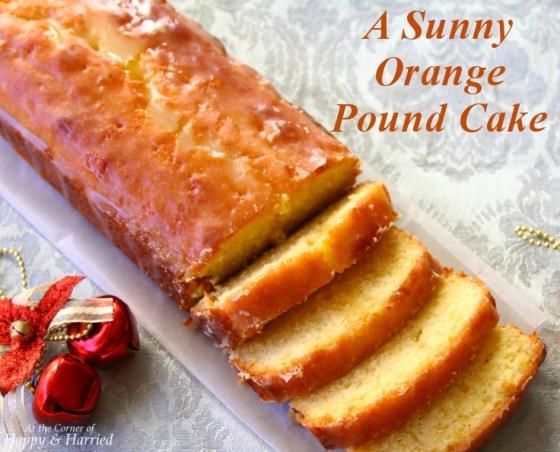 Sunny Orange Pound Cake