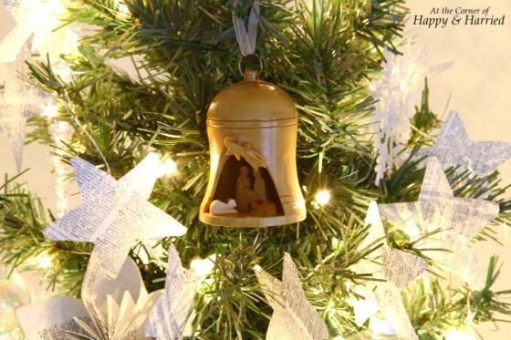 Wooden Nativity Bell Ornament