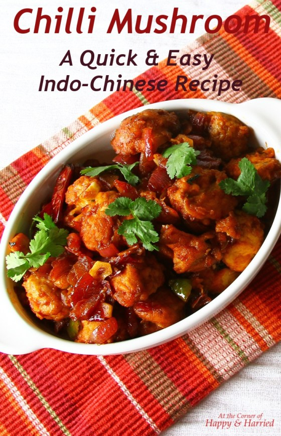 Chilli Mushroom - a Quick & Easy Indo-Chinese Recipe