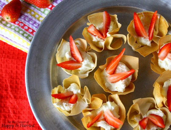 Cream Cheese Filled Spring Roll Pastry Cups