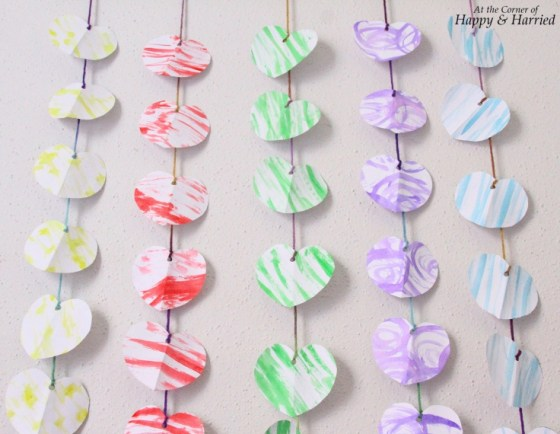 Photography Styling Challenge #8 - Patterns - Watercolor Paper Hearts Garland