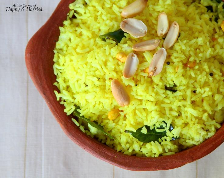 Lemon Rice With Roasted Peanuts